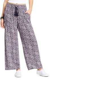 Joe & Elle Printed Drawstring Palazzo Pants M NEW